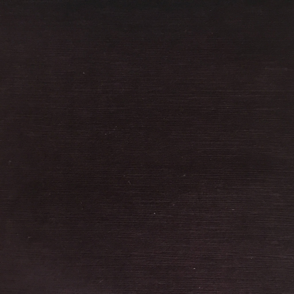 Pond - Strie Textured Microfiber Slubbed Velvet Fabric Upholstery Fabric by the Yard - Available in 40 Colors - Eggplant - Top Fabric - 19