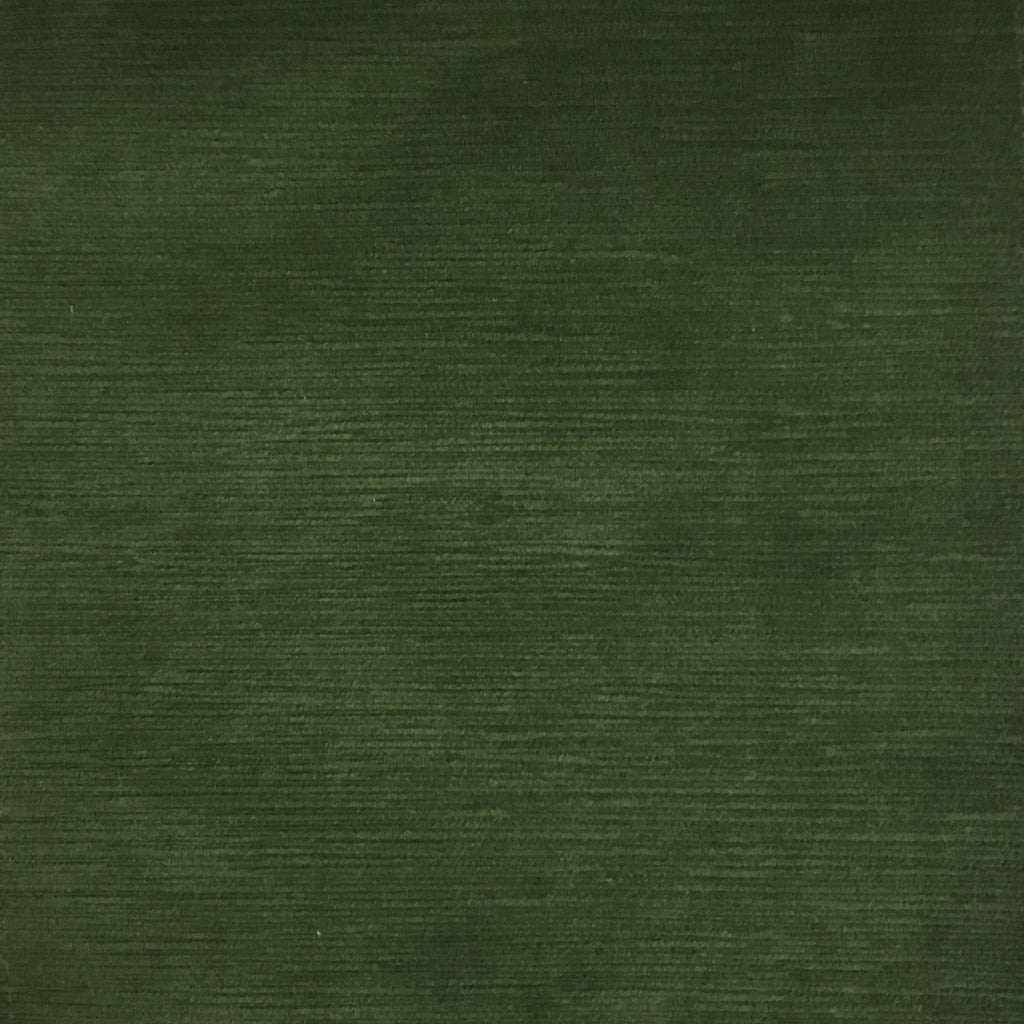 Pond - Strie Textured Microfiber Slubbed Velvet Fabric Upholstery Fabric by the Yard - Available in 40 Colors - Kelp - Top Fabric - 8