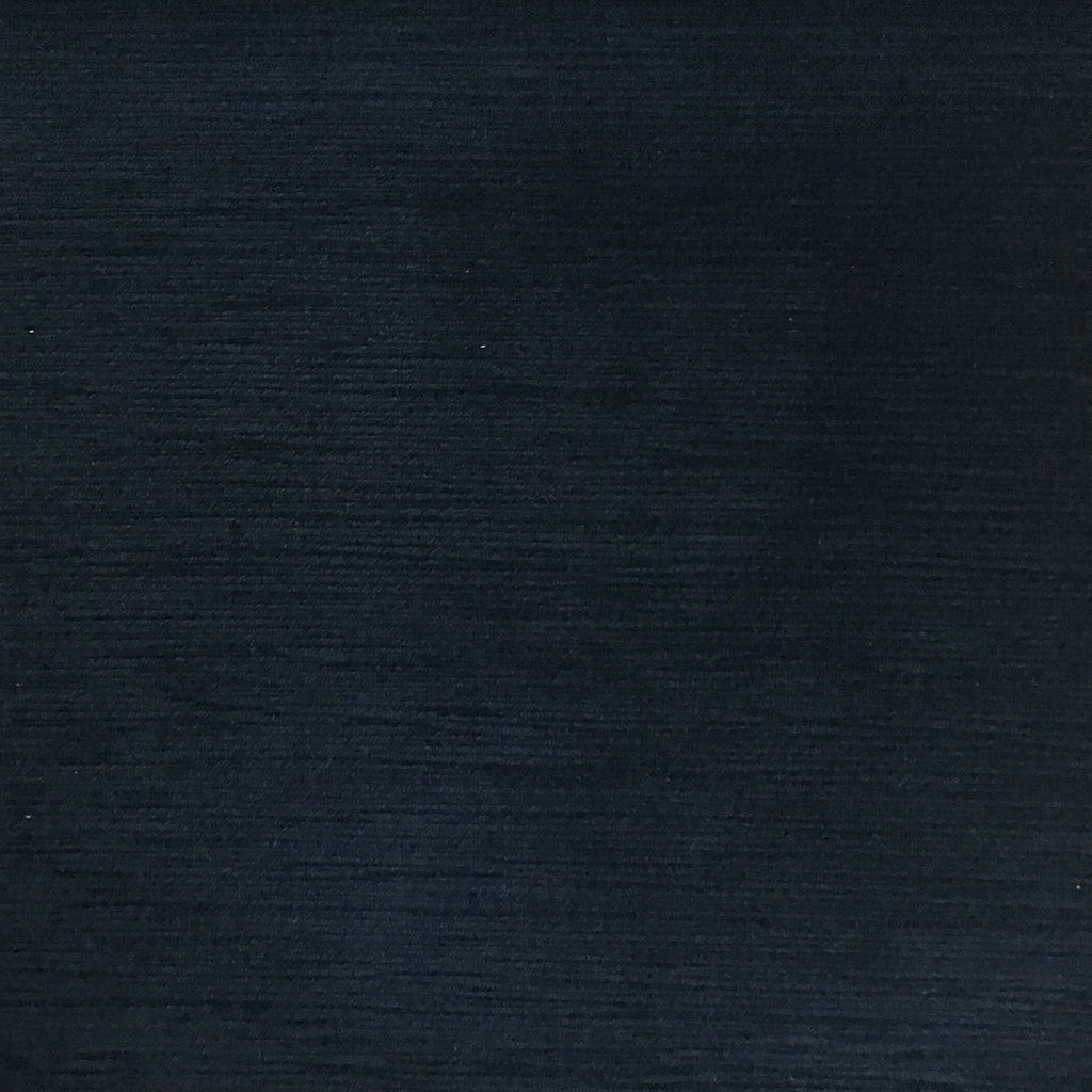 Pond - Strie Textured Microfiber Slubbed Velvet Fabric Upholstery Fabric by the Yard - Available in 40 Colors - Navy - Top Fabric - 13