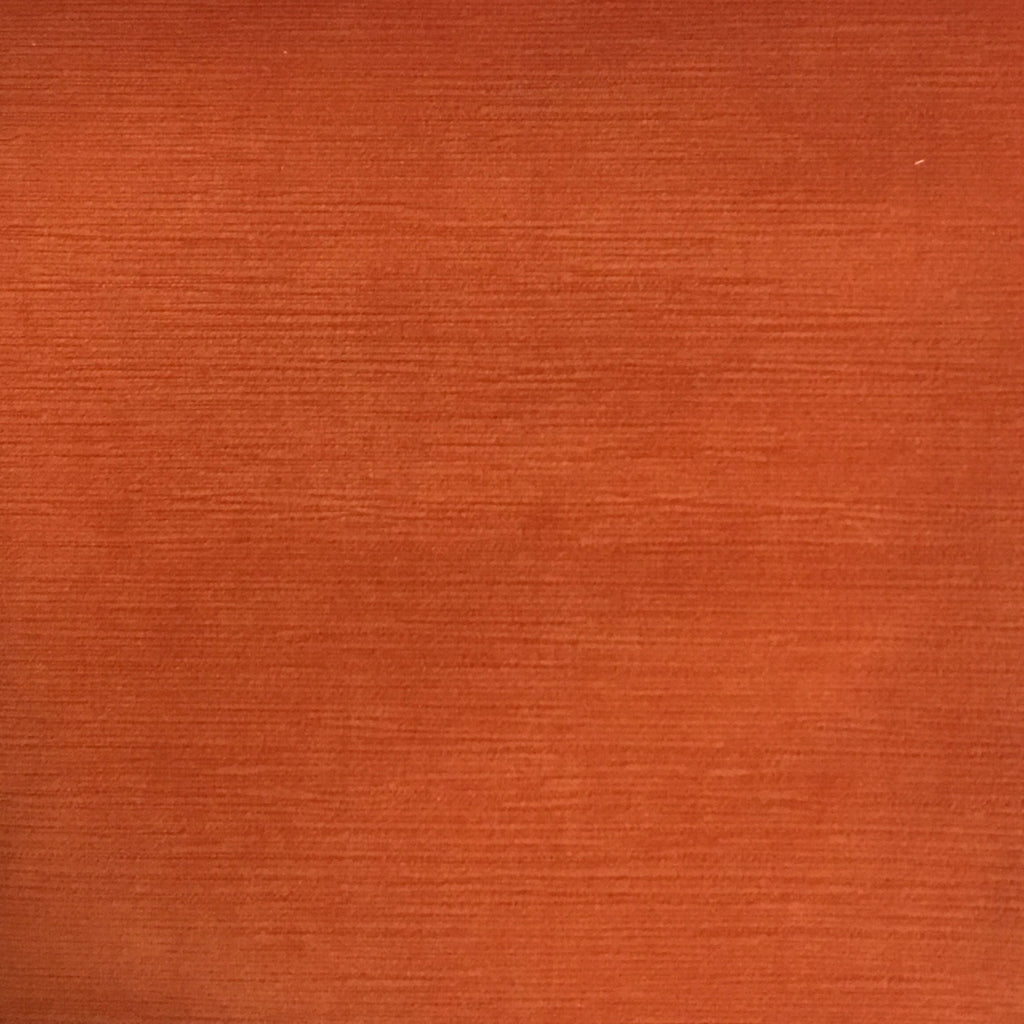 Pond - Strie Textured Microfiber Slubbed Velvet Fabric Upholstery Fabric by the Yard - Available in 40 Colors - Satsuma - Top Fabric - 3