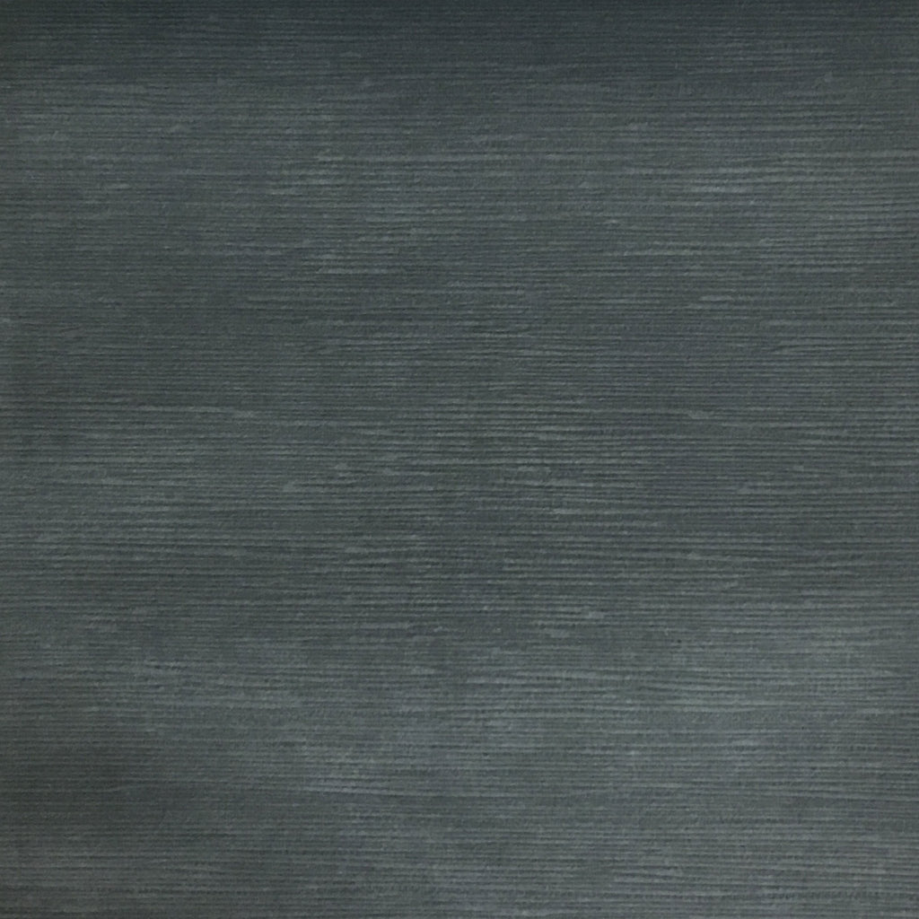 Pond - Strie Textured Microfiber Slubbed Velvet Fabric Upholstery Fabric by the Yard - Available in 40 Colors - Smoke - Top Fabric - 32
