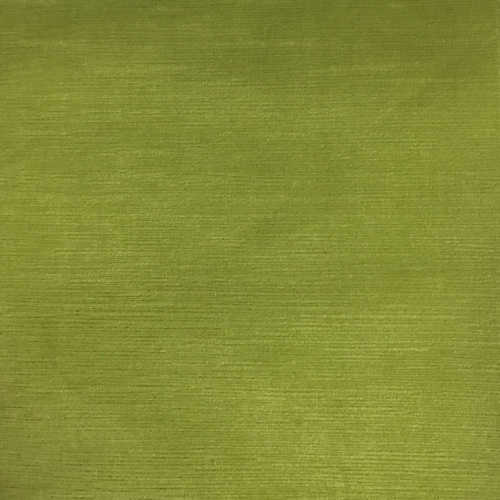 Pond - Strie Textured Microfiber Slubbed Velvet Fabric Upholstery Fabric by the Yard - Available in 40 Colors - Wasabi - Top Fabric - 7