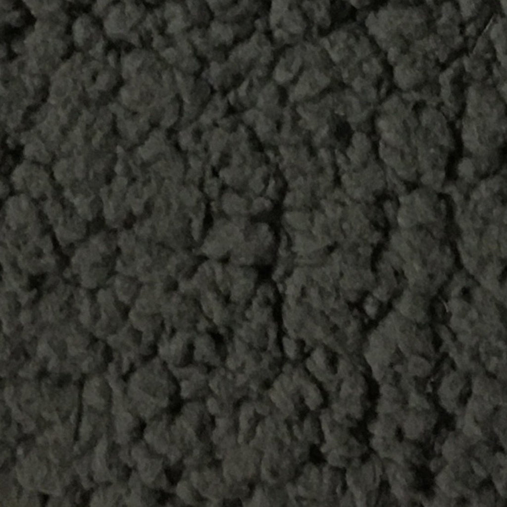 Puffy - Stretch Sherpa Fabric Faux Fur Fabric by the Yard - Available in 13 Colors - Charcoal - Top Fabric - 1
