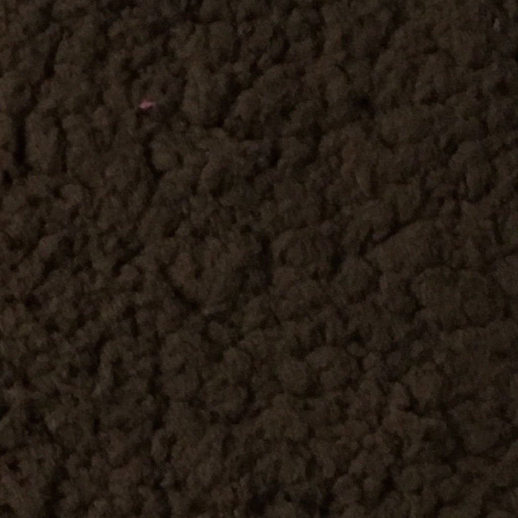 Puffy - Stretch Sherpa Fabric Faux Fur Fabric by the Yard - Available in 13 Colors - Chocolate - Top Fabric - 5