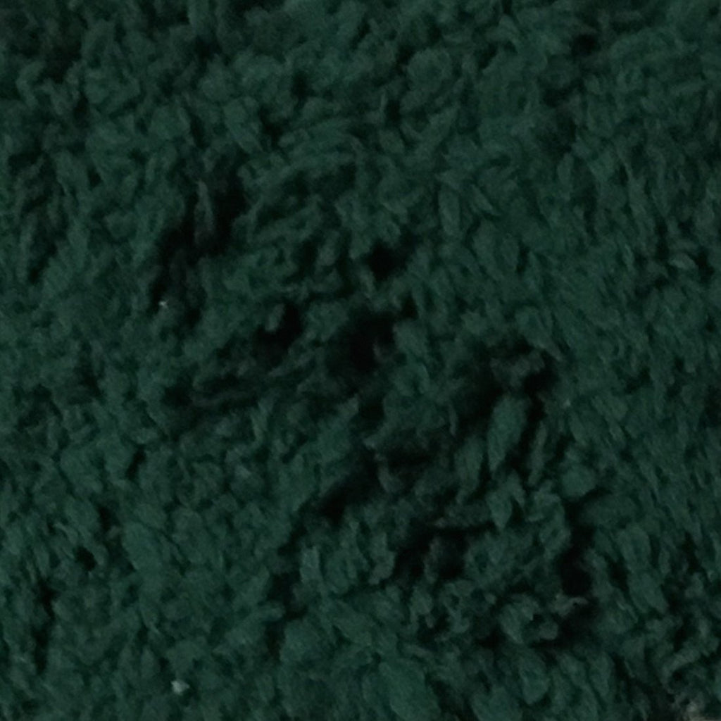 Puffy - Stretch Sherpa Fabric Faux Fur Fabric by the Yard - Available in 13 Colors - Hunter Green - Top Fabric - 13