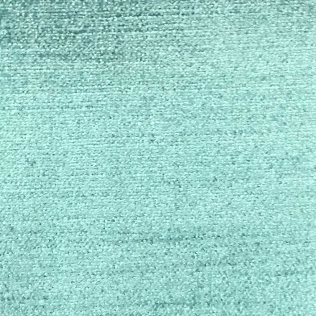 Queen - Lustrous Metallic Solid Cotton Rayon Blend Upholstery Velvet Fabric by the Yard - Available in 83 Colors - Aqua - Top Fabric - 3