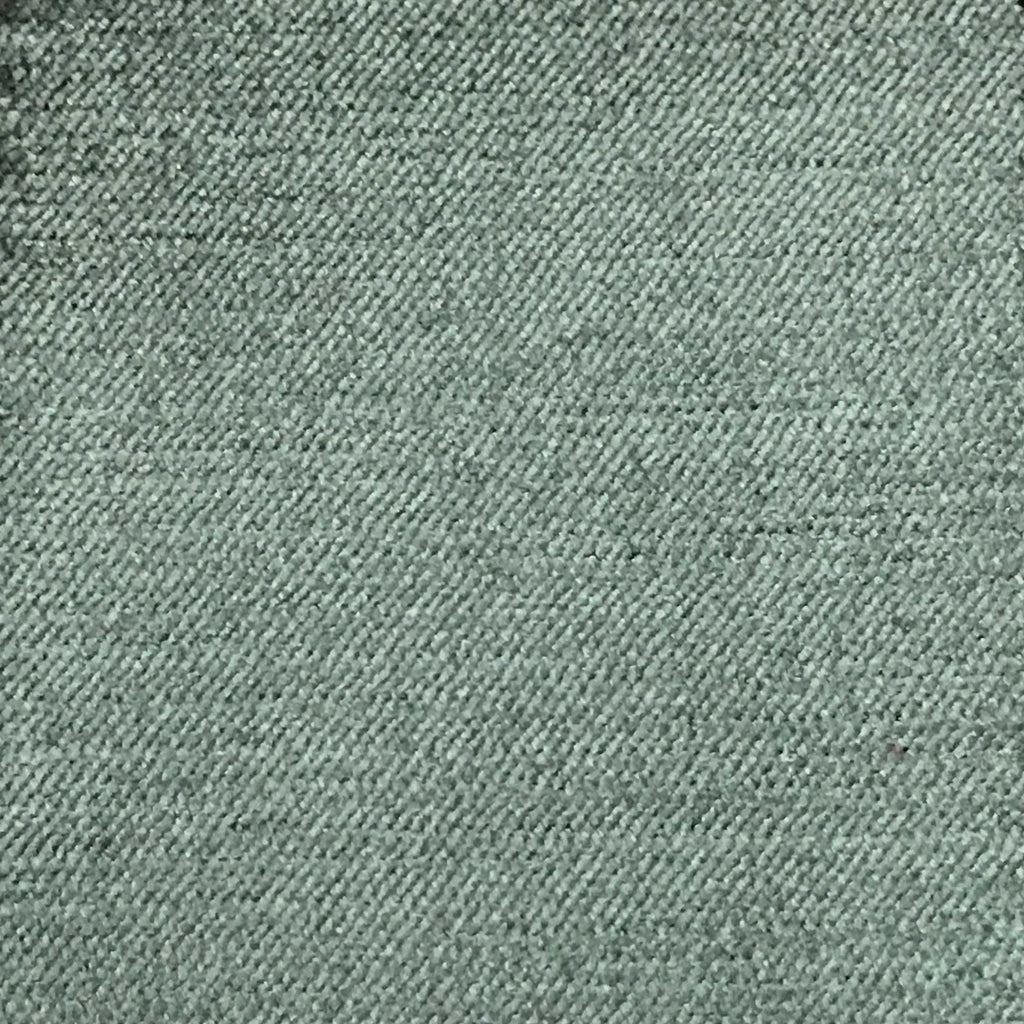 Queen - Lustrous Metallic Solid Cotton Rayon Blend Upholstery Velvet Fabric by the Yard - Available in 83 Colors - Blue Haze - Top Fabric - 49