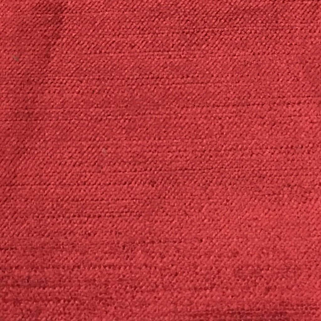 Queen - Lustrous Metallic Solid Cotton Rayon Blend Upholstery Velvet Fabric by the Yard - Available in 83 Colors - Chinese Red - Top Fabric - 64