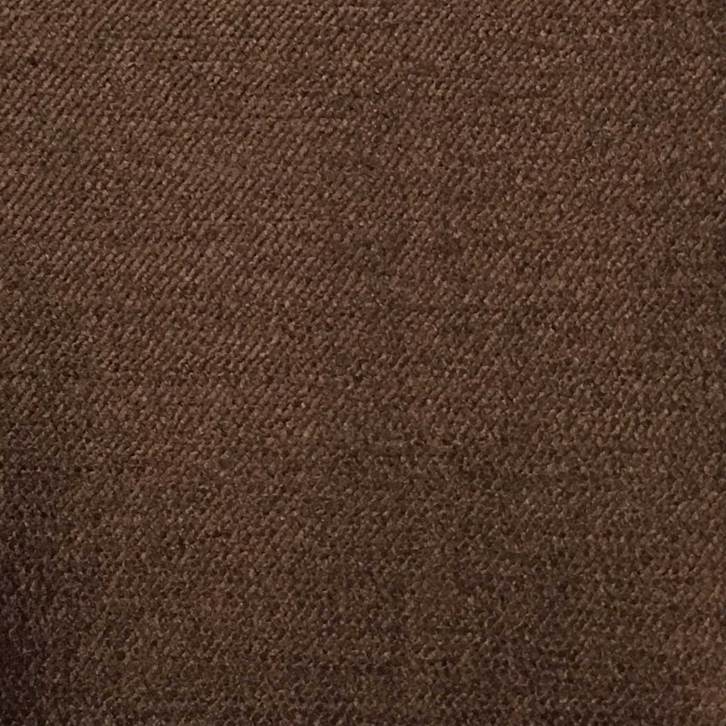 Queen - Lustrous Metallic Solid Cotton Rayon Blend Upholstery Velvet Fabric by the Yard - Available in 83 Colors - Chocolate - Top Fabric - 80