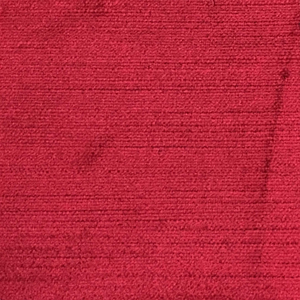 Queen - Lustrous Metallic Solid Cotton Rayon Blend Upholstery Velvet Fabric by the Yard - Available in 83 Colors - Cinnabar - Top Fabric - 65