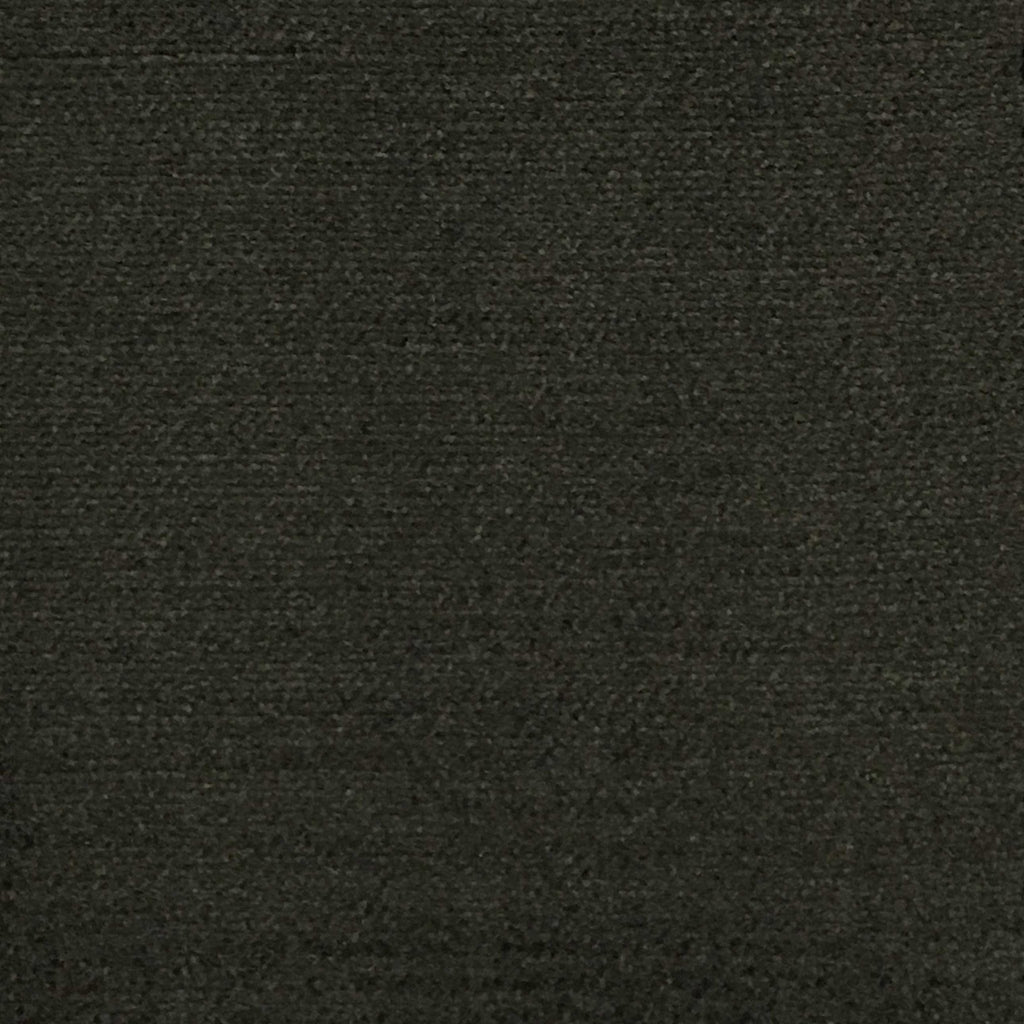 Queen - Lustrous Metallic Solid Cotton Rayon Blend Upholstery Velvet Fabric by the Yard - Available in 83 Colors - Espresso - Top Fabric - 30