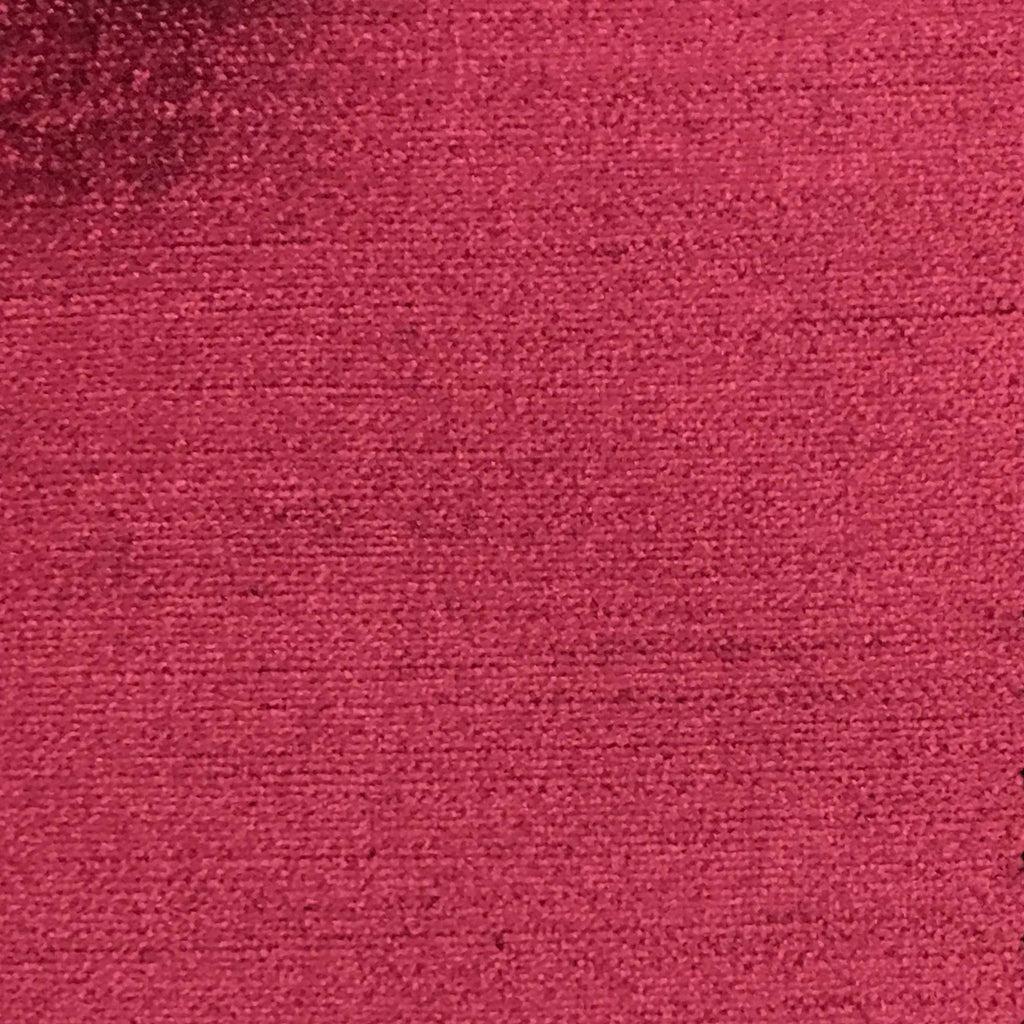 Queen - Lustrous Metallic Solid Cotton Rayon Blend Upholstery Velvet Fabric by the Yard - Available in 83 Colors - Holly Berry - Top Fabric - 61
