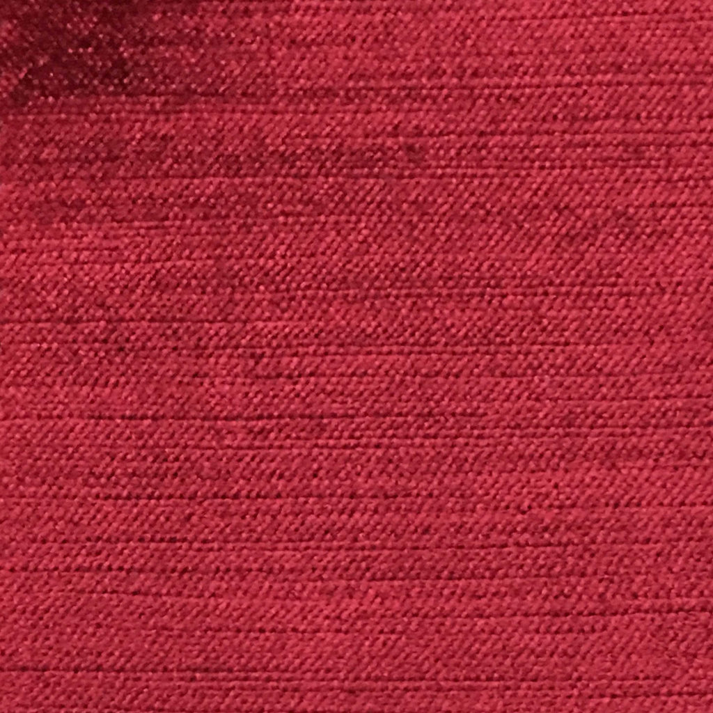 Queen - Lustrous Metallic Solid Cotton Rayon Blend Upholstery Velvet Fabric by the Yard - Available in 83 Colors - Lipstick - Top Fabric - 62