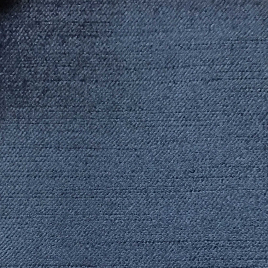 Queen - Lustrous Metallic Solid Cotton Rayon Blend Upholstery Velvet Fabric by the Yard - Available in 83 Colors - Patriot Blue - Top Fabric - 52
