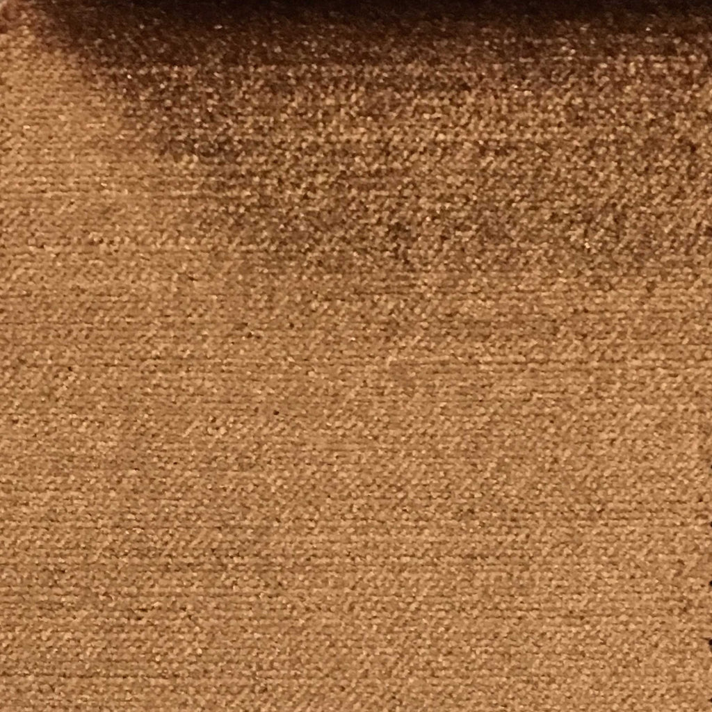 Queen - Lustrous Metallic Solid Cotton Rayon Blend Upholstery Velvet Fabric by the Yard - Available in 83 Colors - Pecan - Top Fabric - 73