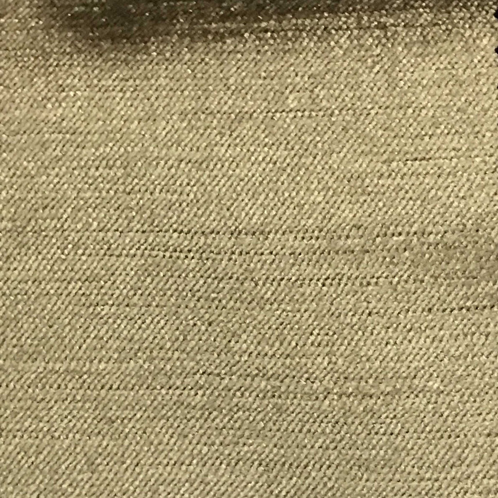 Queen - Lustrous Metallic Solid Cotton Rayon Blend Upholstery Velvet Fabric by the Yard - Available in 83 Colors - Prairie Sand - Top Fabric - 76