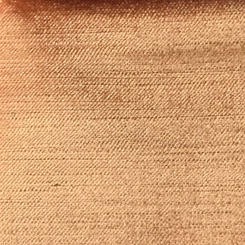 Queen - Lustrous Metallic Solid Cotton Rayon Blend Upholstery Velvet Fabric by the Yard - Available in 83 Colors - Salmon - Top Fabric - 69