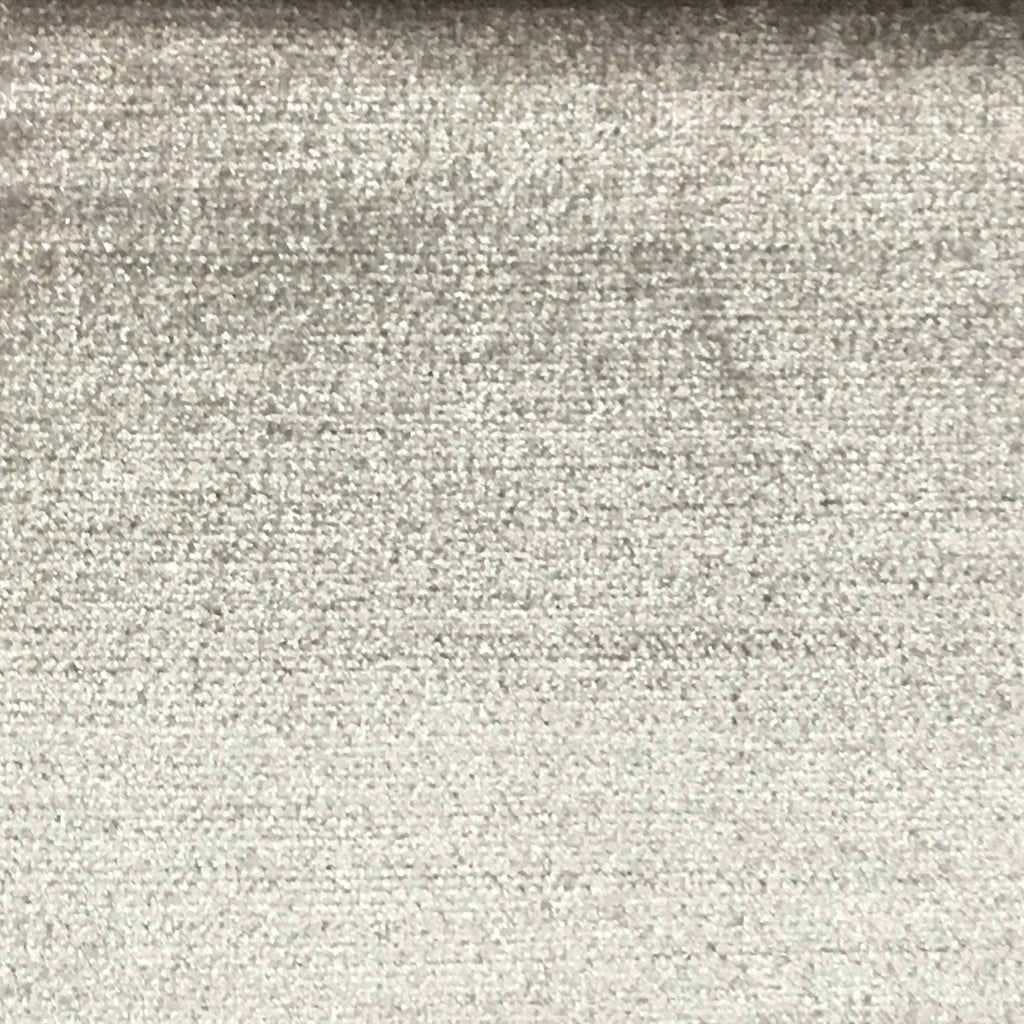 Queen - Lustrous Metallic Solid Cotton Rayon Blend Upholstery Velvet Fabric by the Yard - Available in 83 Colors - Silver Grey - Top Fabric - 40