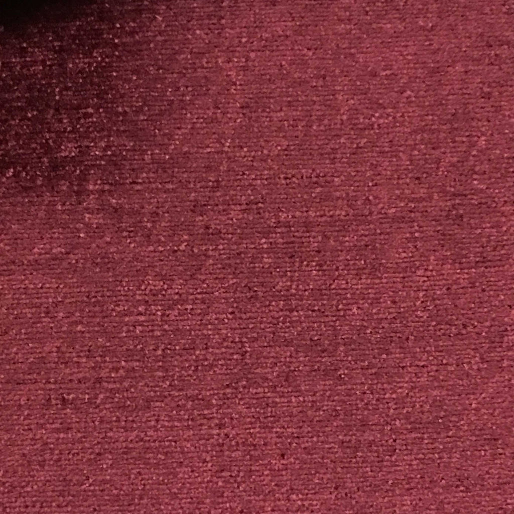 Queen - Lustrous Metallic Solid Cotton Rayon Blend Upholstery Velvet Fabric by the Yard - Available in 83 Colors - Wine - Top Fabric - 58