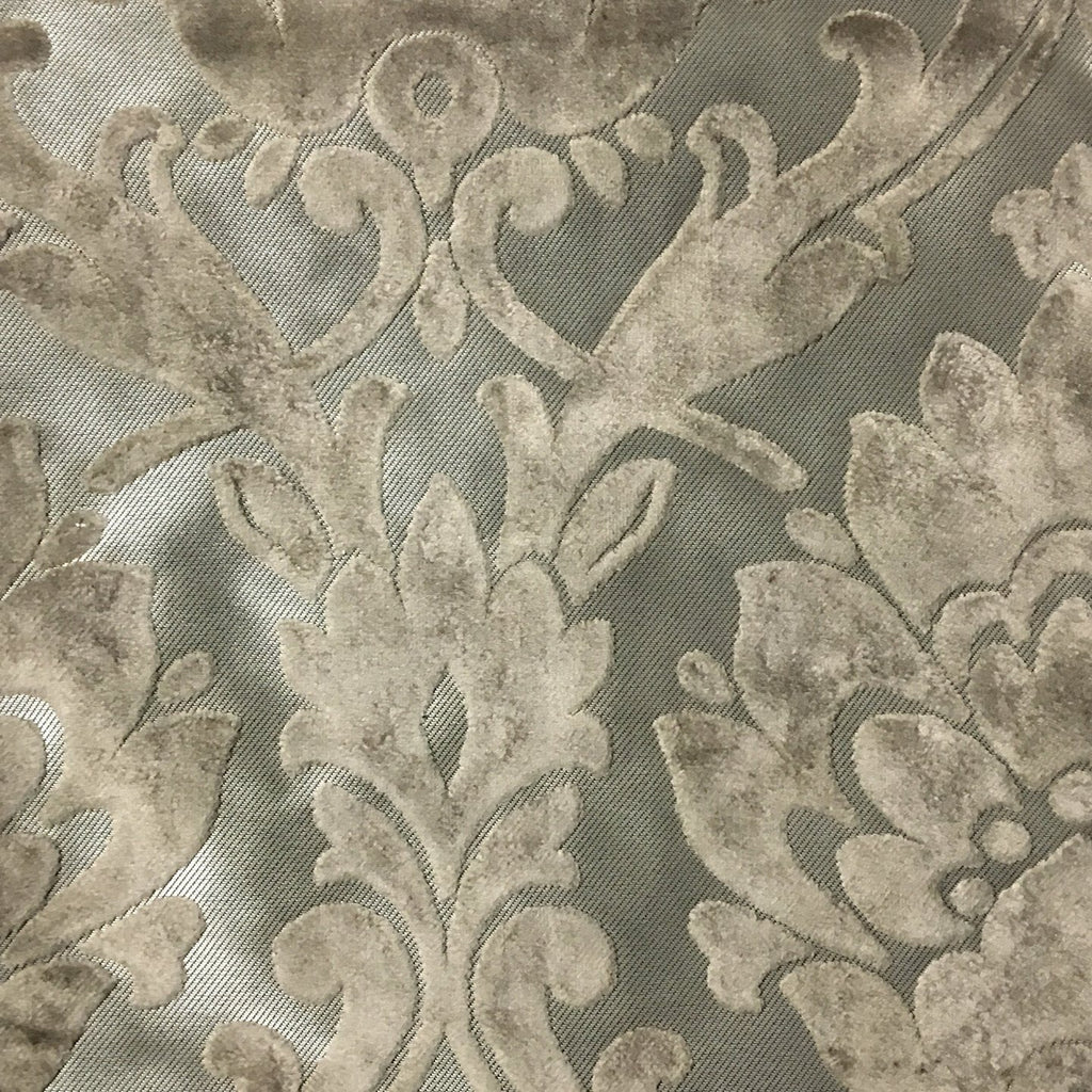 Radcliffe - Damask Pattern Lurex Burnout Velvet Upholstery Fabric by the Yard - Available in 23 Colors -  - Top Fabric - 34