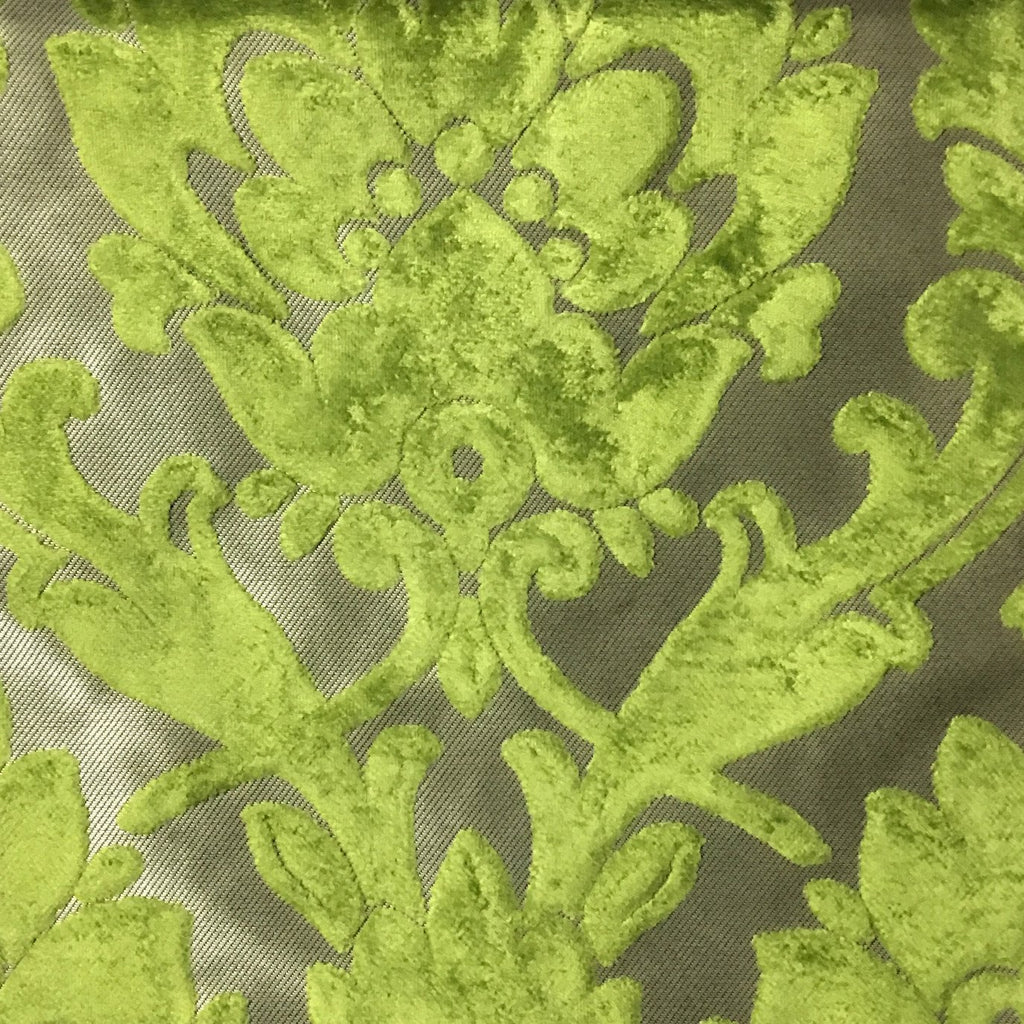 Radcliffe - Damask Pattern Lurex Burnout Velvet Upholstery Fabric by the Yard - Available in 23 Colors -  - Top Fabric - 25