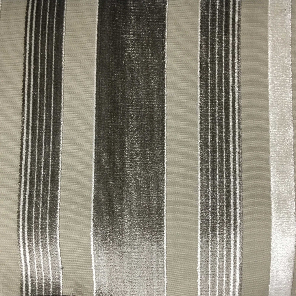 Richmond - Striped Cut Velvet Upholstery Fabric by the Yard - Available in 12 Colors - Beach - Top Fabric - 2