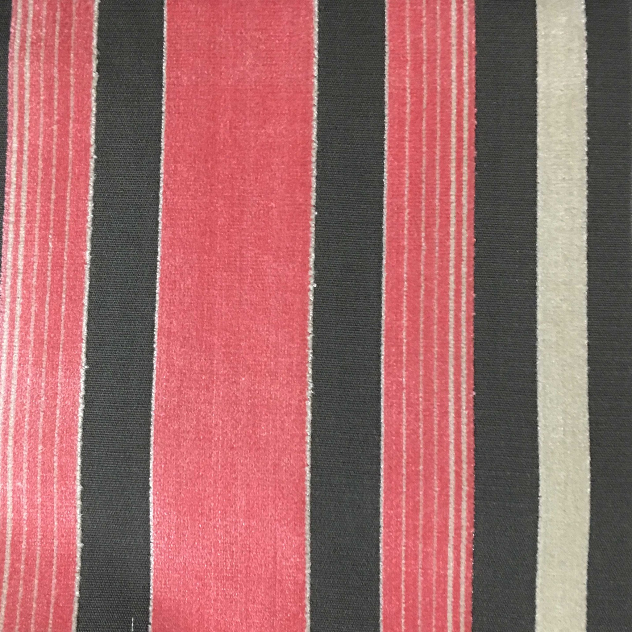 Richmond striped cut velvet upholstery fabric by the for Home decorating fabric by the yard