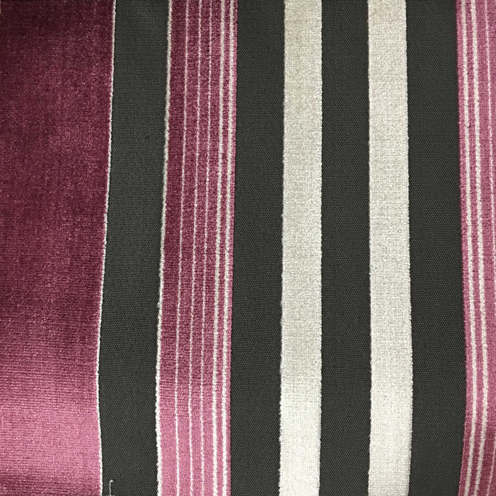 Richmond Striped Cut Velvet Upholstery Fabric by the