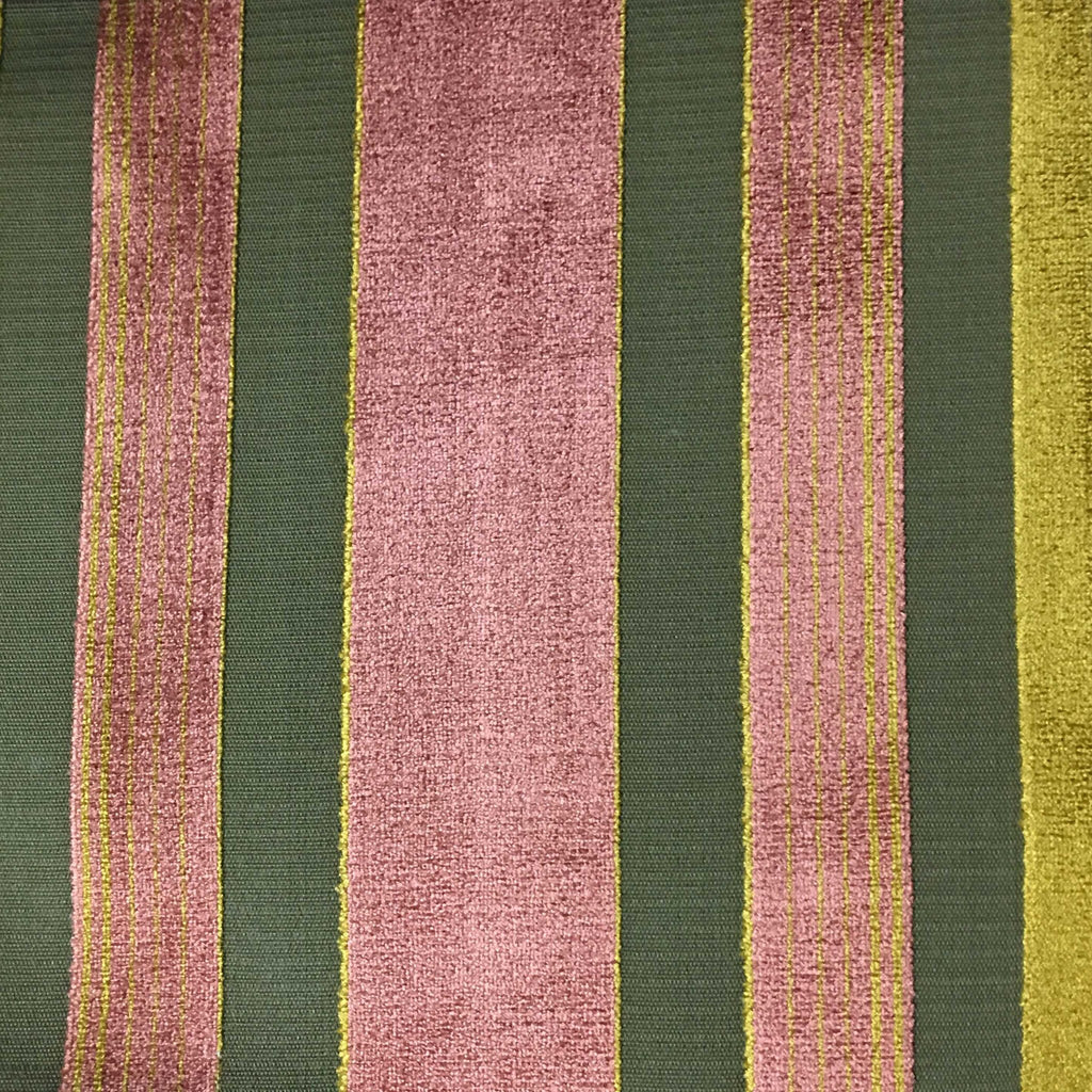 Richmond - Striped Cut Velvet Upholstery Fabric by the Yard - Available in 12 Colors - Henna - Top Fabric - 9