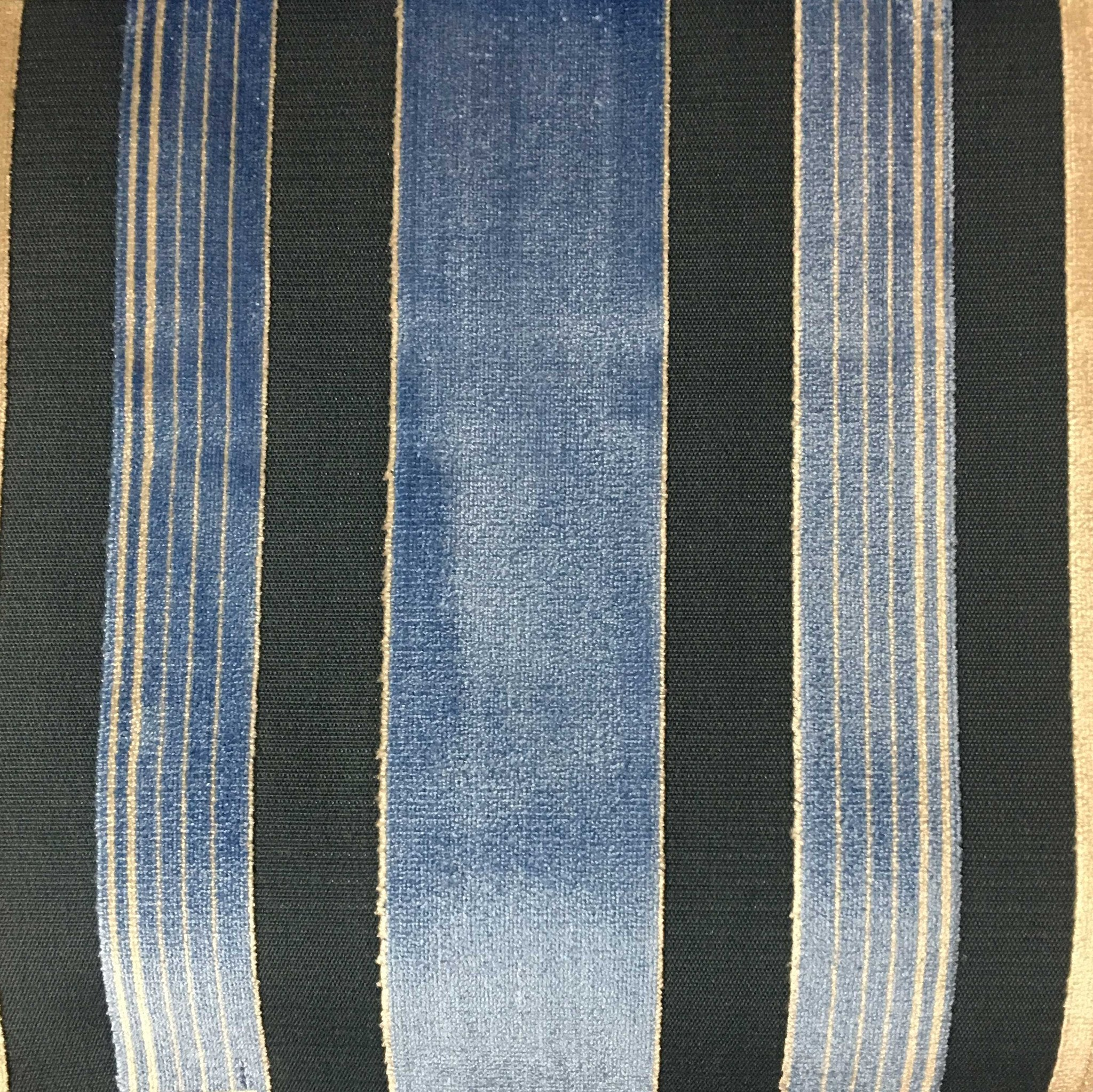 Richmond Striped Cut Velvet Upholstery Fabric By The Yard 12 Colors