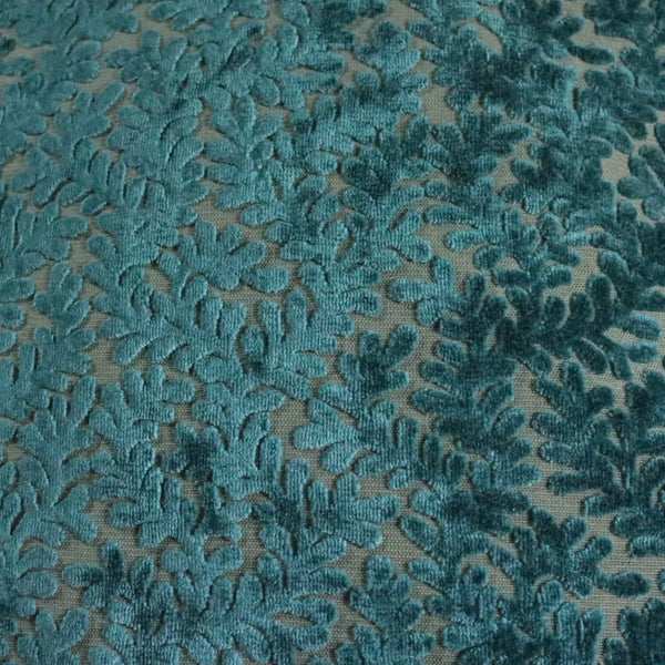 Romeo - Burn out velvet Upholstery Fabric by the Yard - in 6 Colors