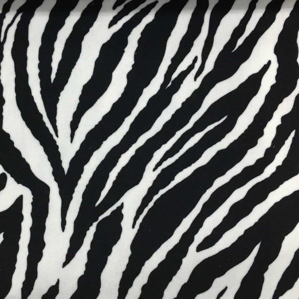 Safari - Baby Zebra - Short Pile Velvet Fabric Drapery, Pillow, & Upholstery Fabric by the Yard - Available in 2 Colors - Brown / With Backing - Top Fabric - 2