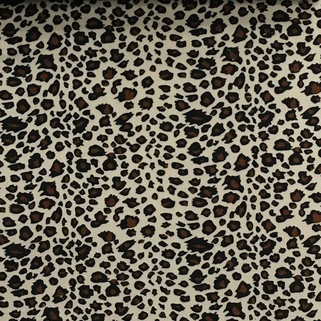 Safari - Cheetah - Short Pile Velvet Fabric Drapery, Pillow, & Upholstery Fabric by the Yard - Available in 2 Colors - Brown / With Backing - Top Fabric - 2