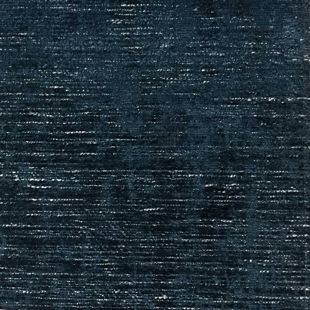 Saunders - Modern Chenille Fabric Upholstery Fabric by the Yard - Available in 22 Colors - Azure - Top Fabric - 7