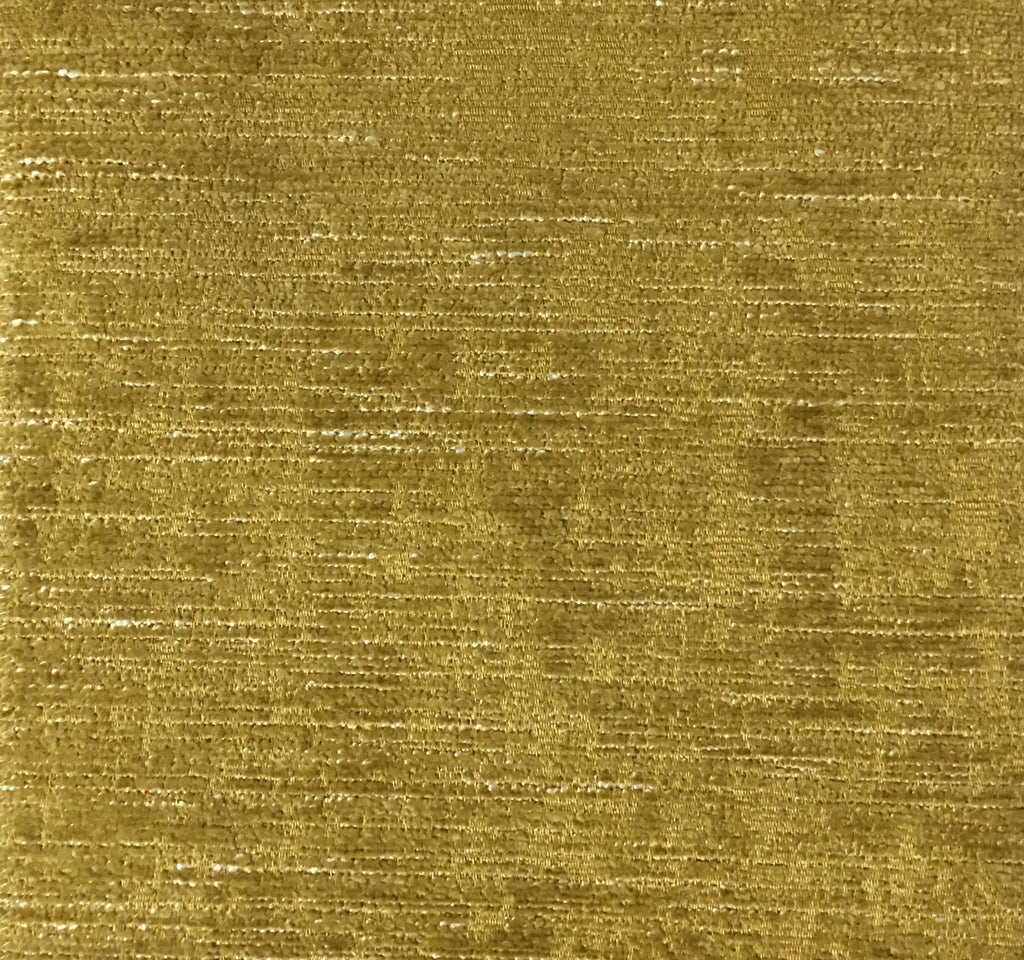 Saunders - Modern Chenille Fabric Upholstery Fabric by the Yard - Available in 22 Colors - Curry - Top Fabric - 9