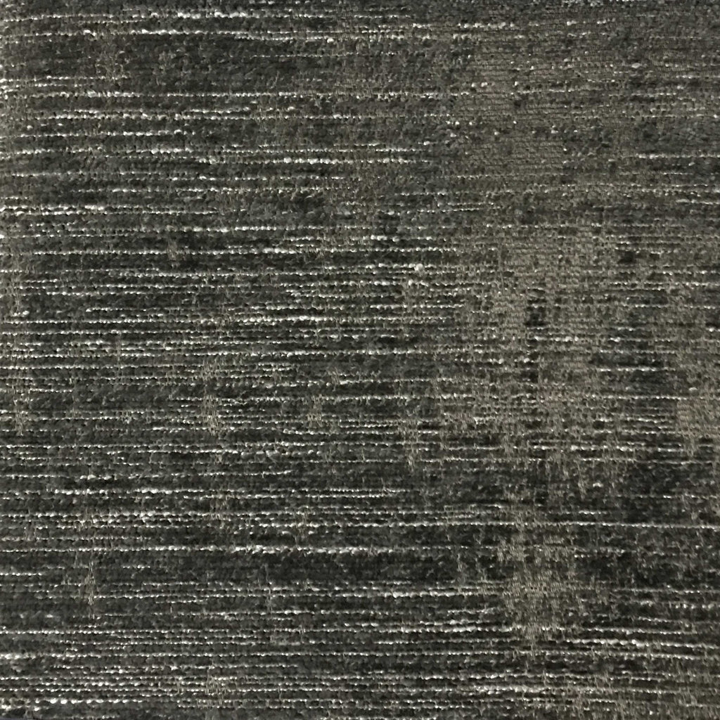 Saunders - Modern Chenille Fabric Upholstery Fabric by the Yard - Available in 22 Colors - Gunmetal - Top Fabric - 16