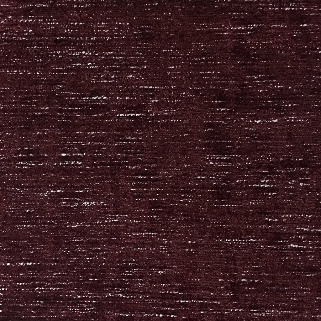 Saunders - Modern Chenille Fabric Upholstery Fabric by the Yard - Available in 22 Colors - Oxblood - Top Fabric - 3