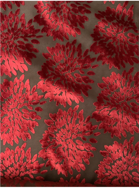 Backyard Sale! A Roll of 8 yards - Florence Fiori - Color: Moroccan Red-Free USA Shipping!