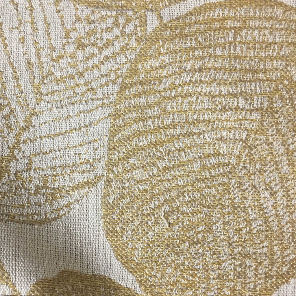 Shade - Tropical Pattern Woven Texture Upholstery & Drapery Fabric by the Yard - Available in 6 Colors - Golden - Top Fabric - 5