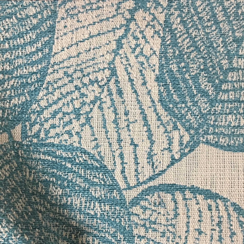 Shade - Tropical Pattern Woven Texture Upholstery & Drapery Fabric by the Yard - Available in 6 Colors - Laguna - Top Fabric - 2