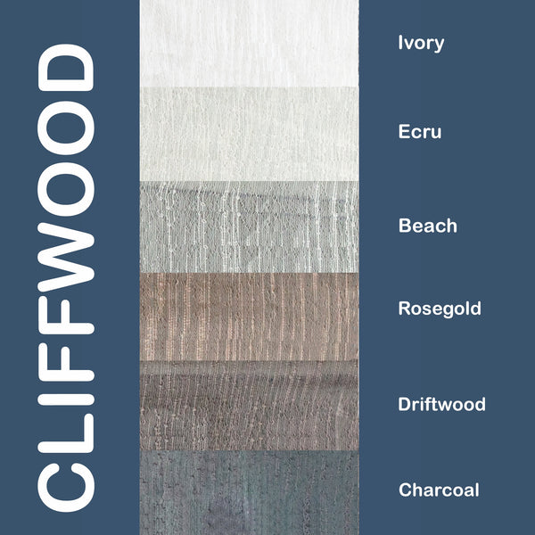 "Cliffwood - 110"" Organza Fabric Window Curtain Drapery Fabric"