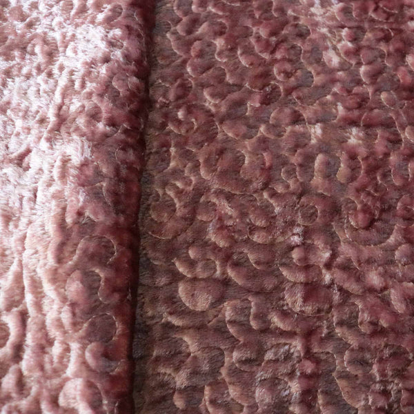 Scuba Coral Pattern Burnout Velvet Upholstery Fabric By
