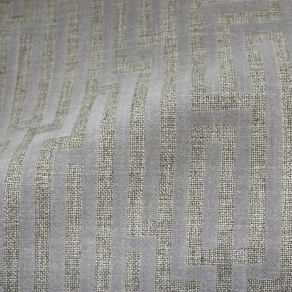 Flock Lines - Linen, Nylon Polyester Blend Burlap Upholstery Fabric- 5 Colors