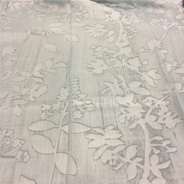 "Corsica - 110"" Organza Fabric Window Curtain Drapery Fabric by the Yard - Pool - Top Fabric"
