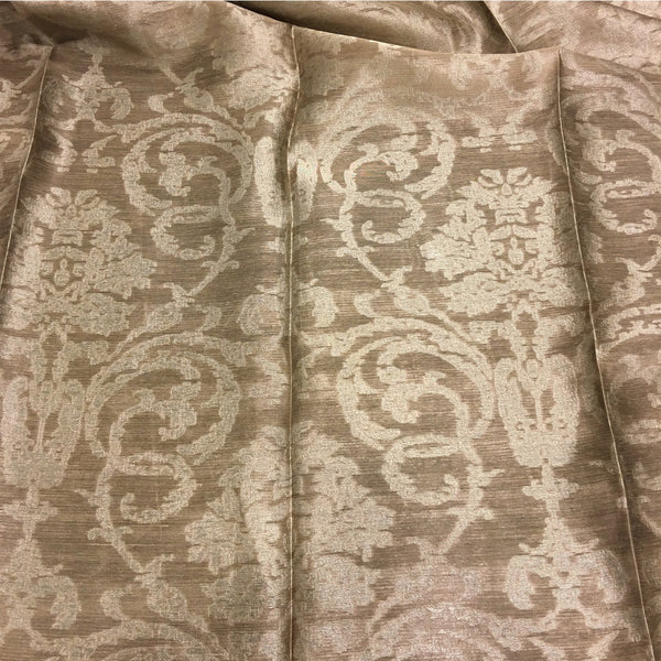 "Granville - 110"" Organza Fabric Window Curtain Drapery Fabric by the Yard - Cobblestone - Top Fabric"