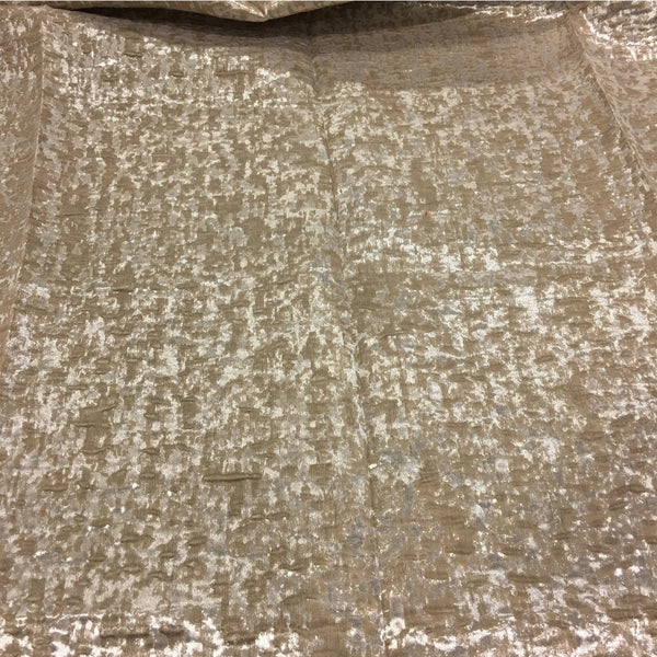 "Kenter - 110"" Organza Fabric Window Curtain Drapery Fabric by the Yard - Beach - Top Fabric"