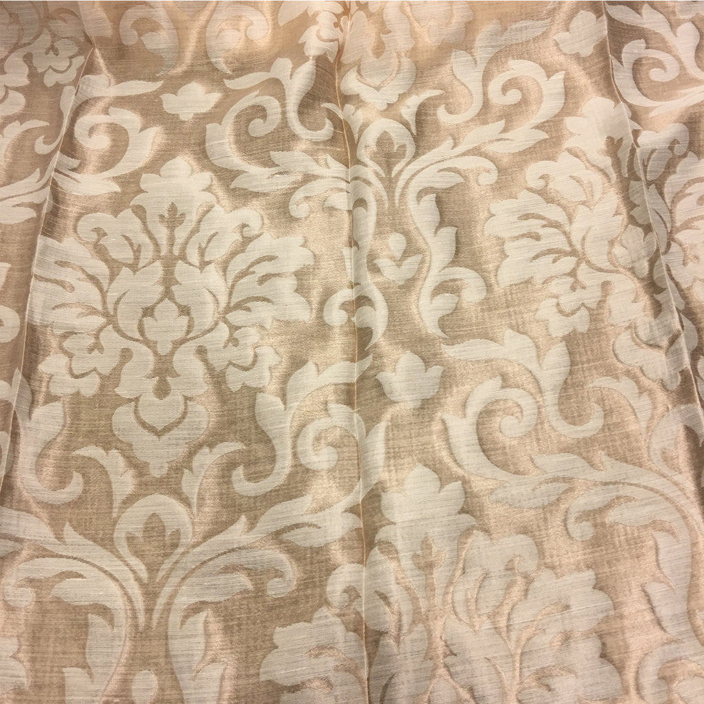 "Sullivan - 110"" Organza Fabric Window Curtain Drapery Fabric by the Yard - Buff - Top Fabric"