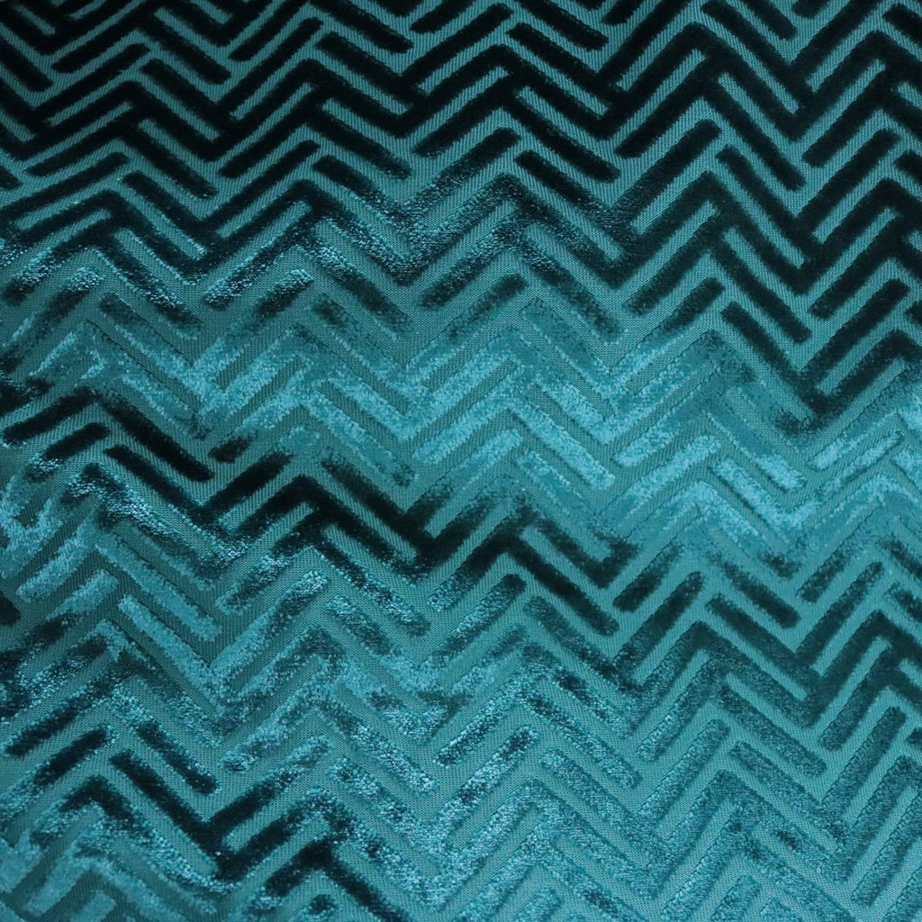 Beethoven - Geometric Arrow Pattern BURNOUT VELVET