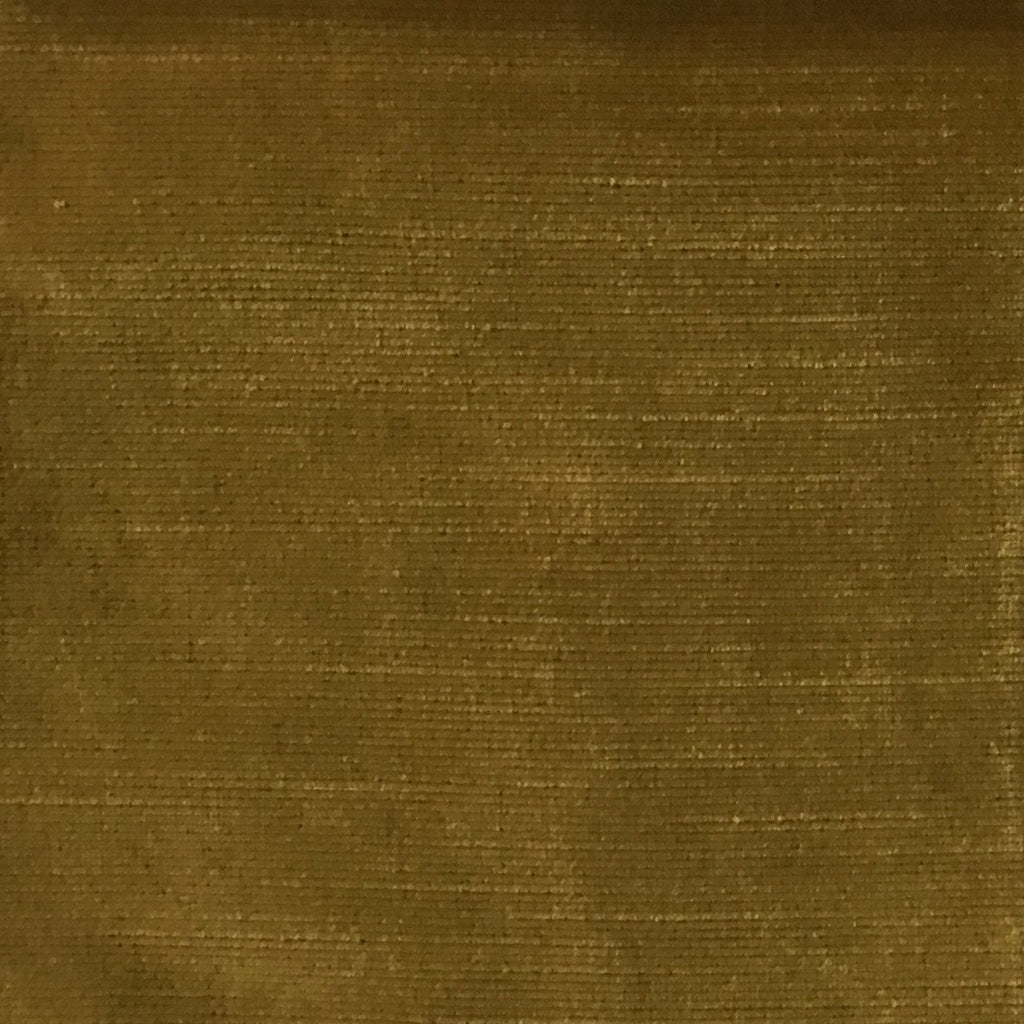 Waterloo - Slubbed Plush Velvet Upholstery Fabric by the Yard - Available in 15 Colors - Curry - Top Fabric - 4