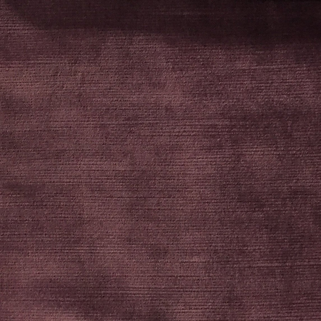 Waterloo - Slubbed Plush Velvet Upholstery Fabric by the Yard - Available in 15 Colors - Fig - Top Fabric - 2